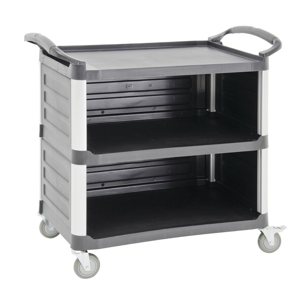 HUBERT® Light-Duty 3-Sided Service Cart