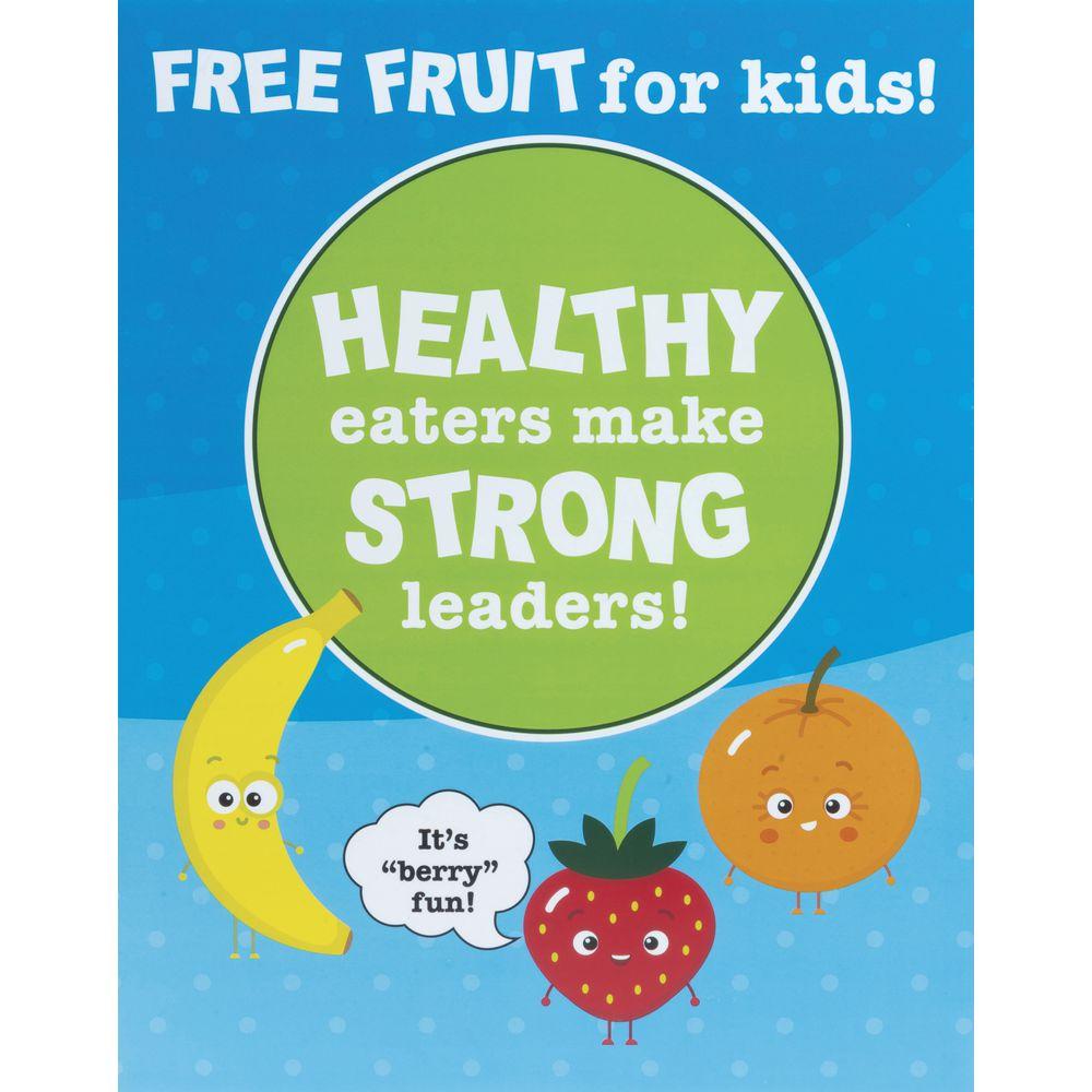 SIGN, FREE FRUIT F KIDS, 11X14, PLASTIC