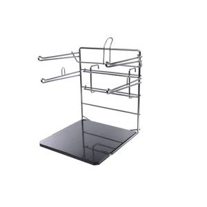 BAG RACK, DOUBLE ARM, BLACK BASE