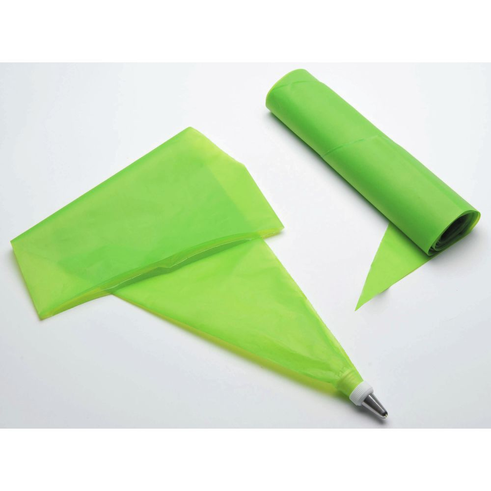 BAG, XL DISPOSABLE PASTRY, GREEN 23.25X11