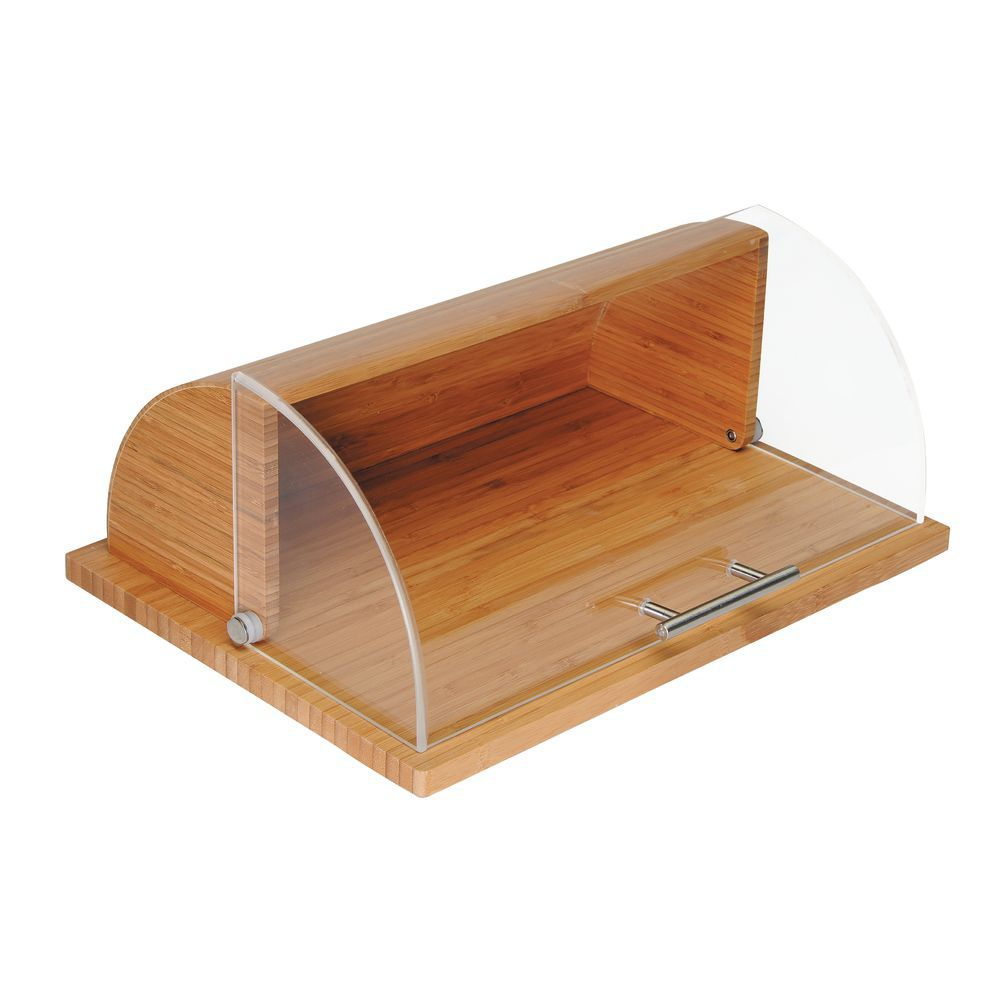 Roll Top Bread Box in Bamboo