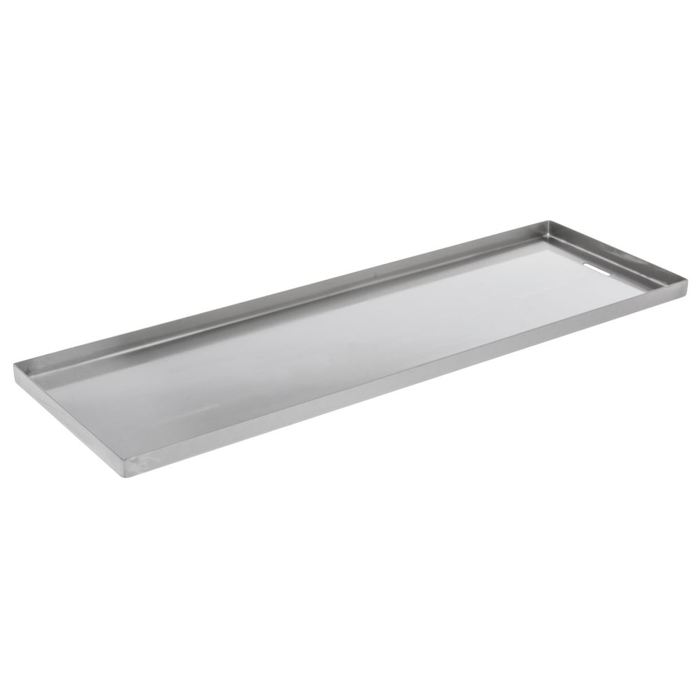 "PAN, STAINLESS, DRAIN SLOT, 8""X24""X0.75""D"
