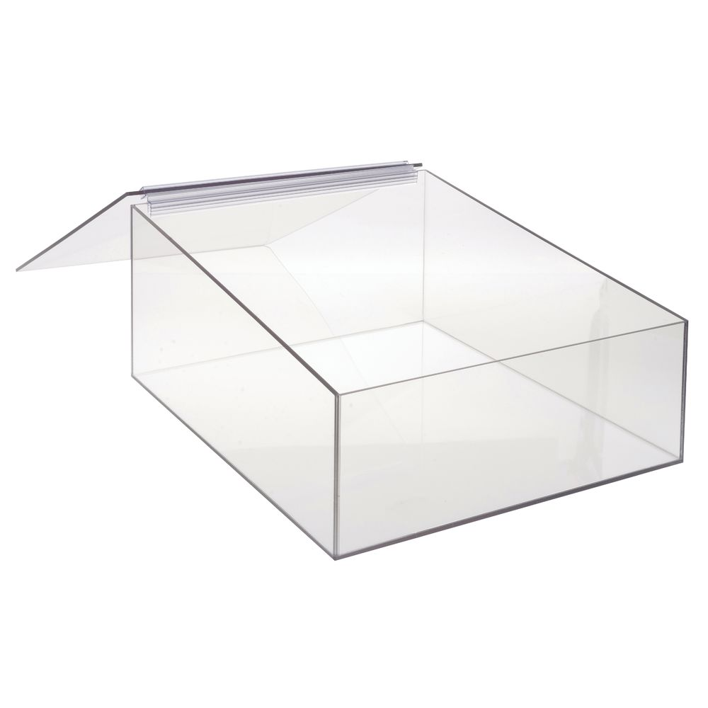 Cal-Mil Rectangular Clear Acrylic Display Box With Hinged Lid - 13 1/4