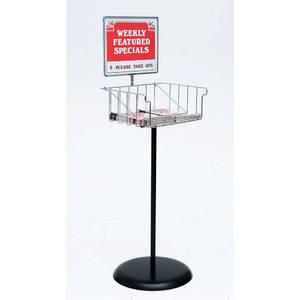 these floor standing sign holders eliminate clutter. Black Bedroom Furniture Sets. Home Design Ideas