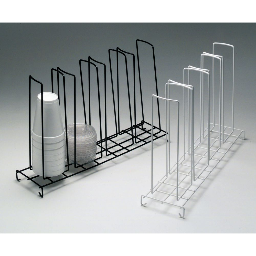 White Steel Wire Countertop Cup & Lid Rack - 18 1/2\