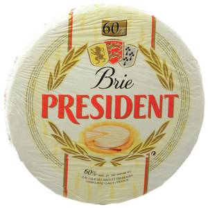 CHEESE, IMITATION, LABELED, BRIE PRESIDENT