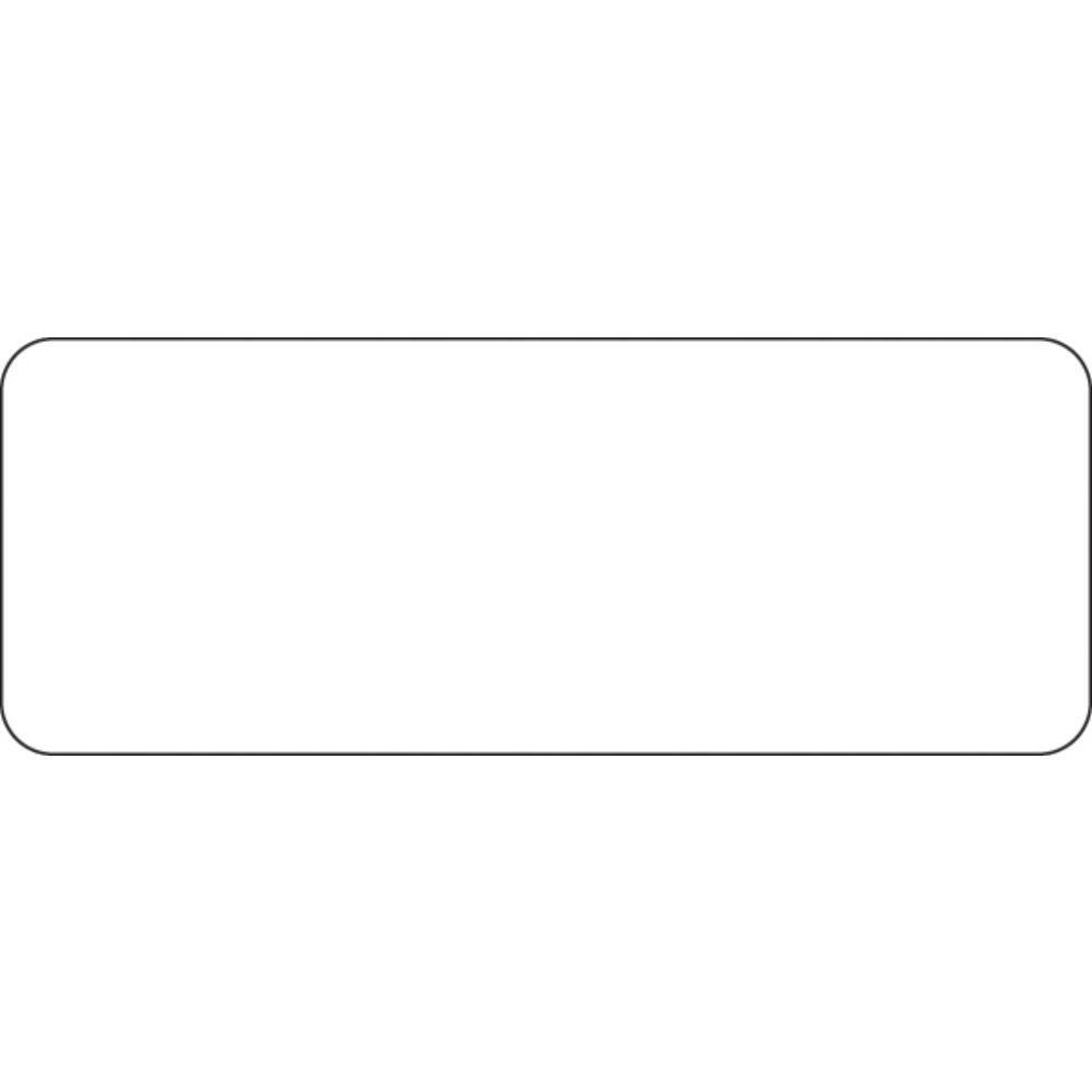 "30 Up Blank Printer Labels White 2 1/2""L x 1""H"