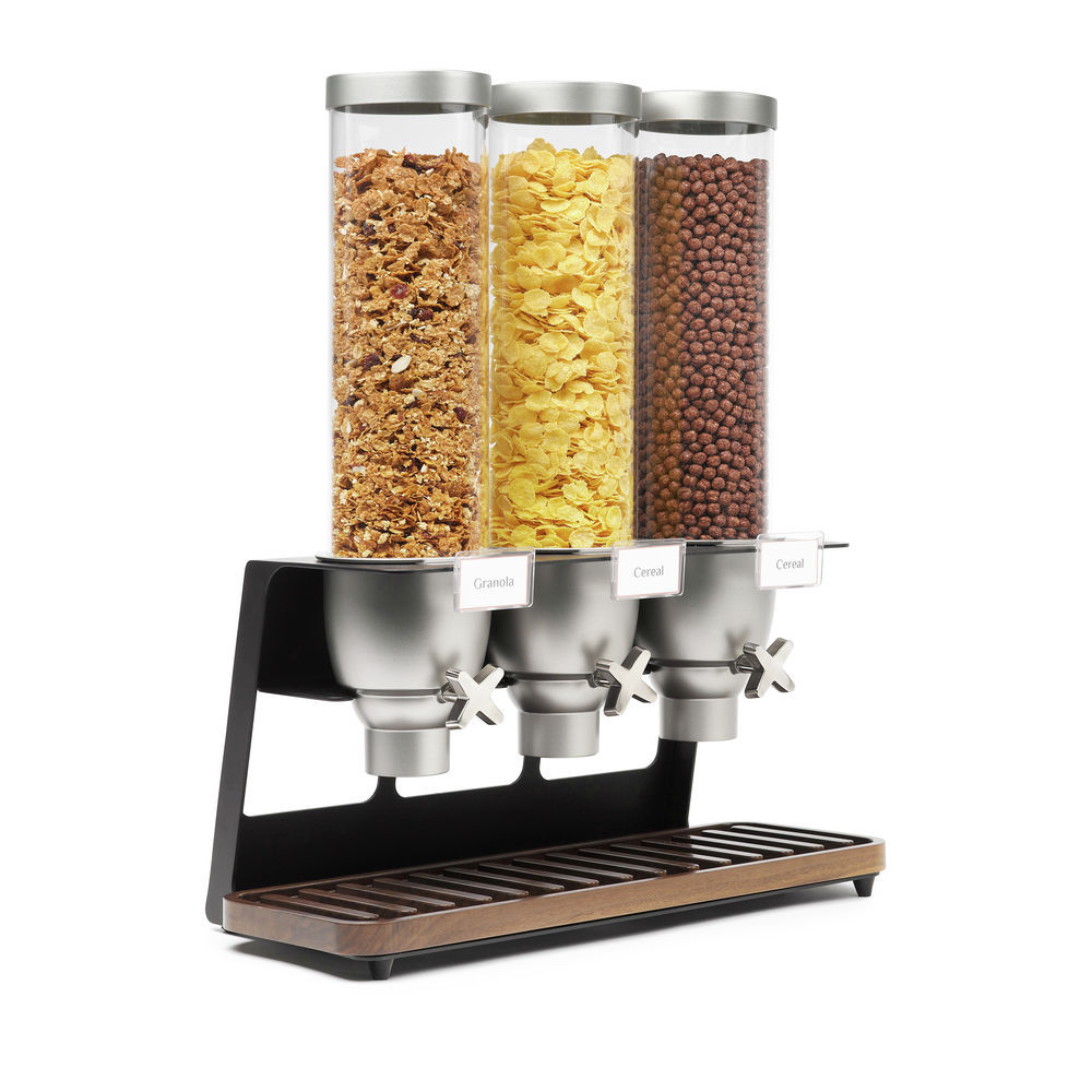 DISP, 3-CONTAINER, (3)1.3GAL, WALNUT BASE