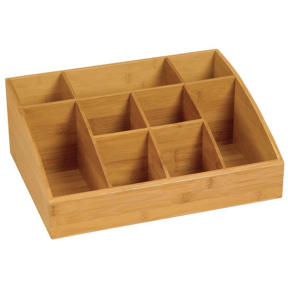 Bamboo Organizer with nine compartments