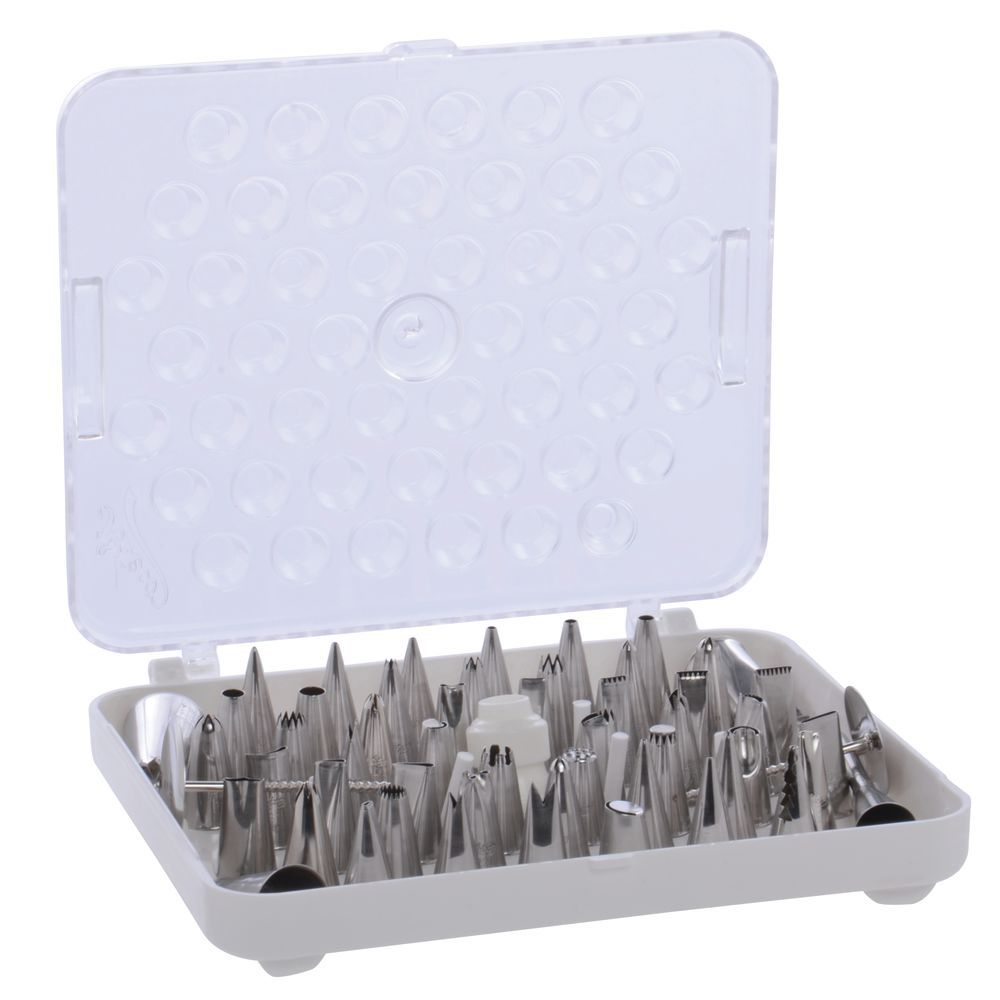 Pastry Tip Set With Storage Box 55 Piece