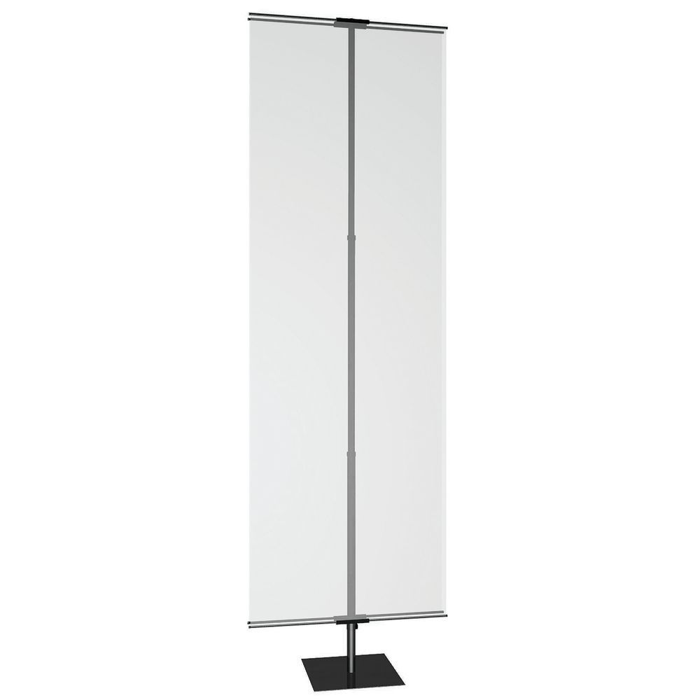 Black Banner Display Stand With Adjustable Height