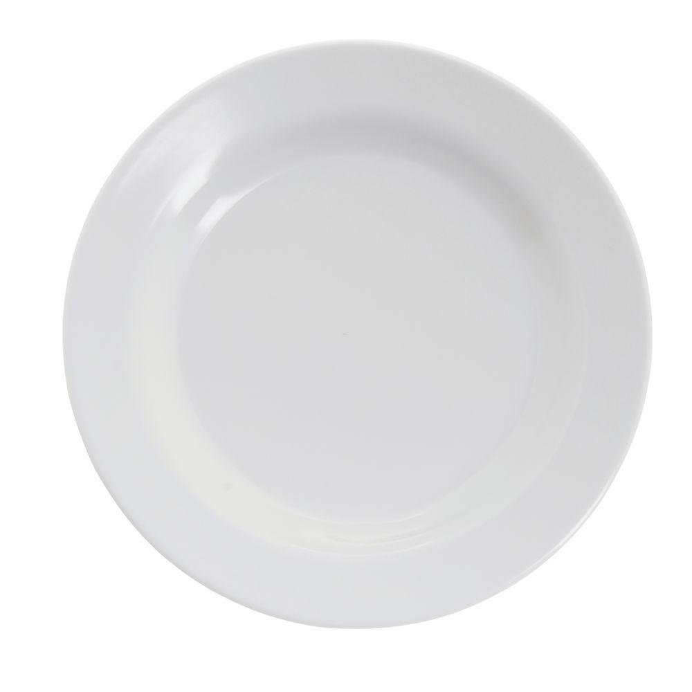 """PLATE, 6.5"""", DESSERT, WHITE, MELAMINE, 48/PK"""
