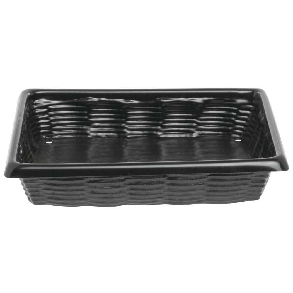 Marco Rectangular Black ABS Produce Baskets with Drainage Holes ...