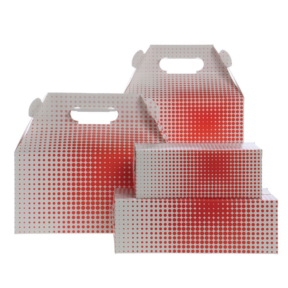 BOX, SNACK, FAST TOP, RED DOTS