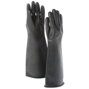 GLOVE, BLK, NAT'L RUBBER, GREASE RESISTANT