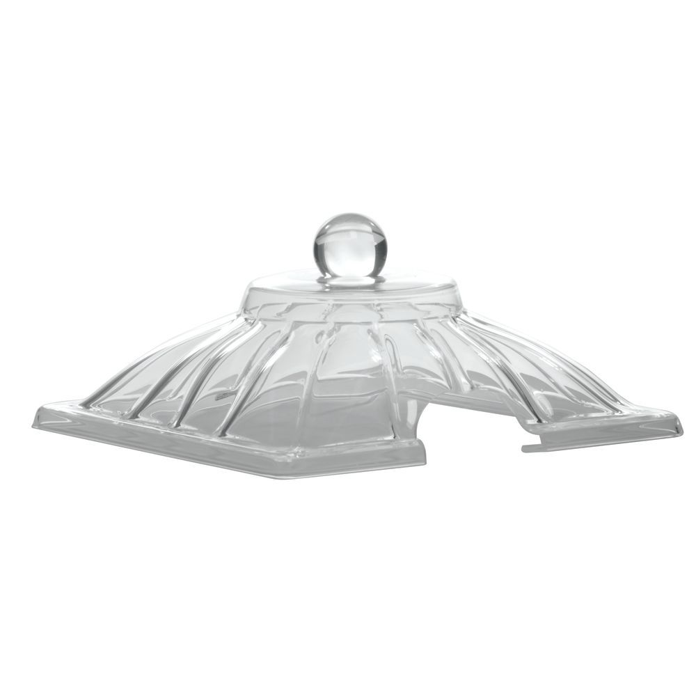 Delfin Acrylic Amphora Jar (lid/cover) 2 gal in Clear with Cut-Out Lid