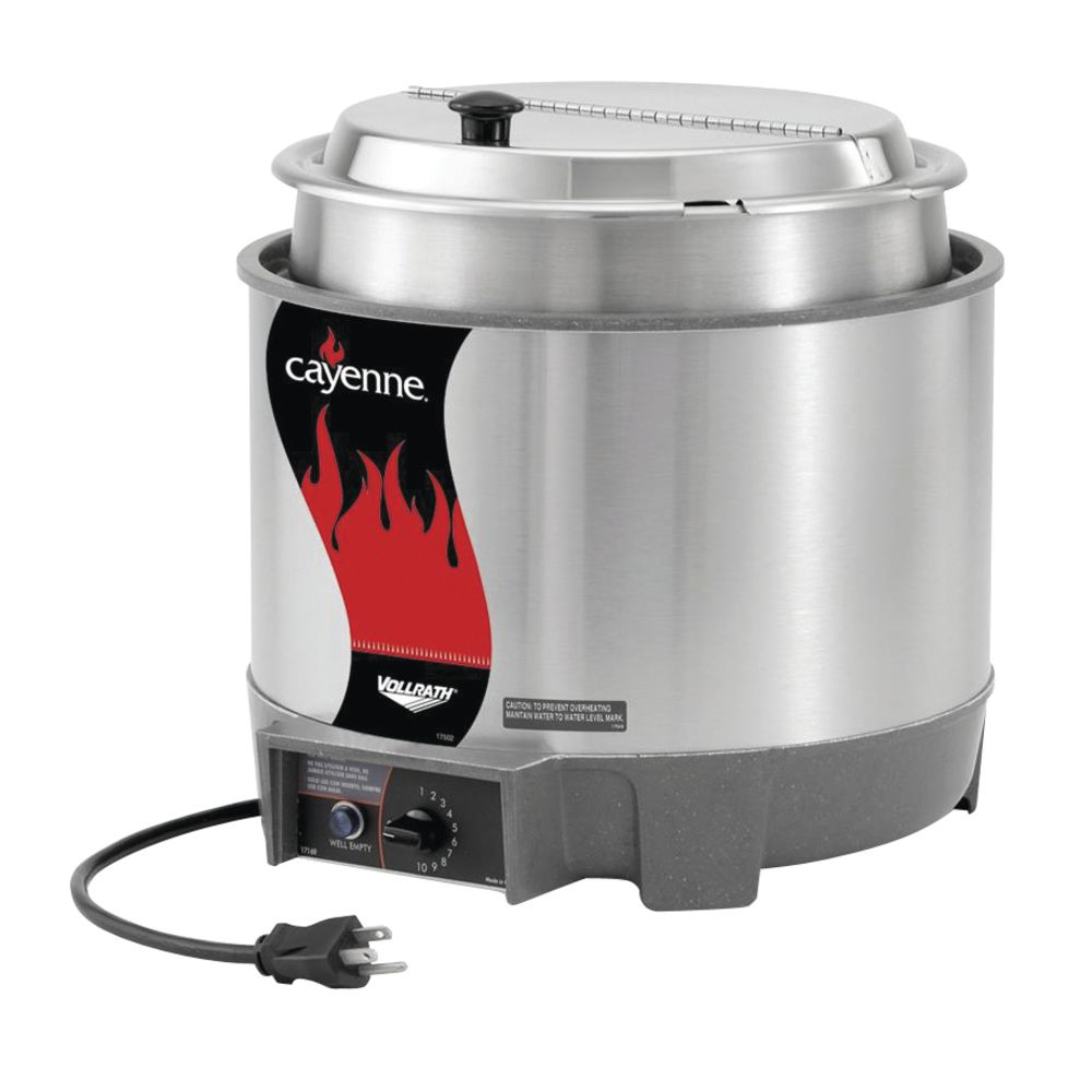 WARMER, 11 QT, W/INSET, COVER AND HINGE