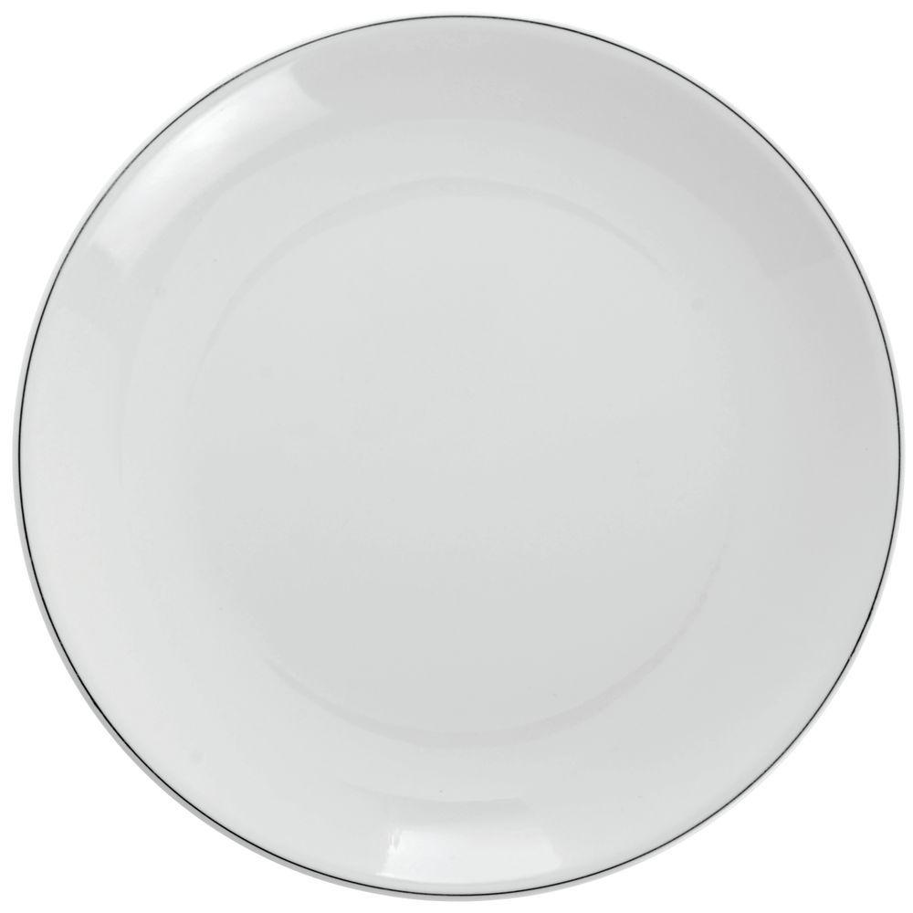 Elite Viva Square Bright White Melamine Dinner Plate 10 3 8 Sq