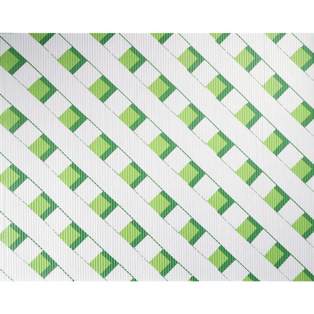 "Corobuff Counterwrap Green Lattice 25'L x 48""W Corrugated Paper"