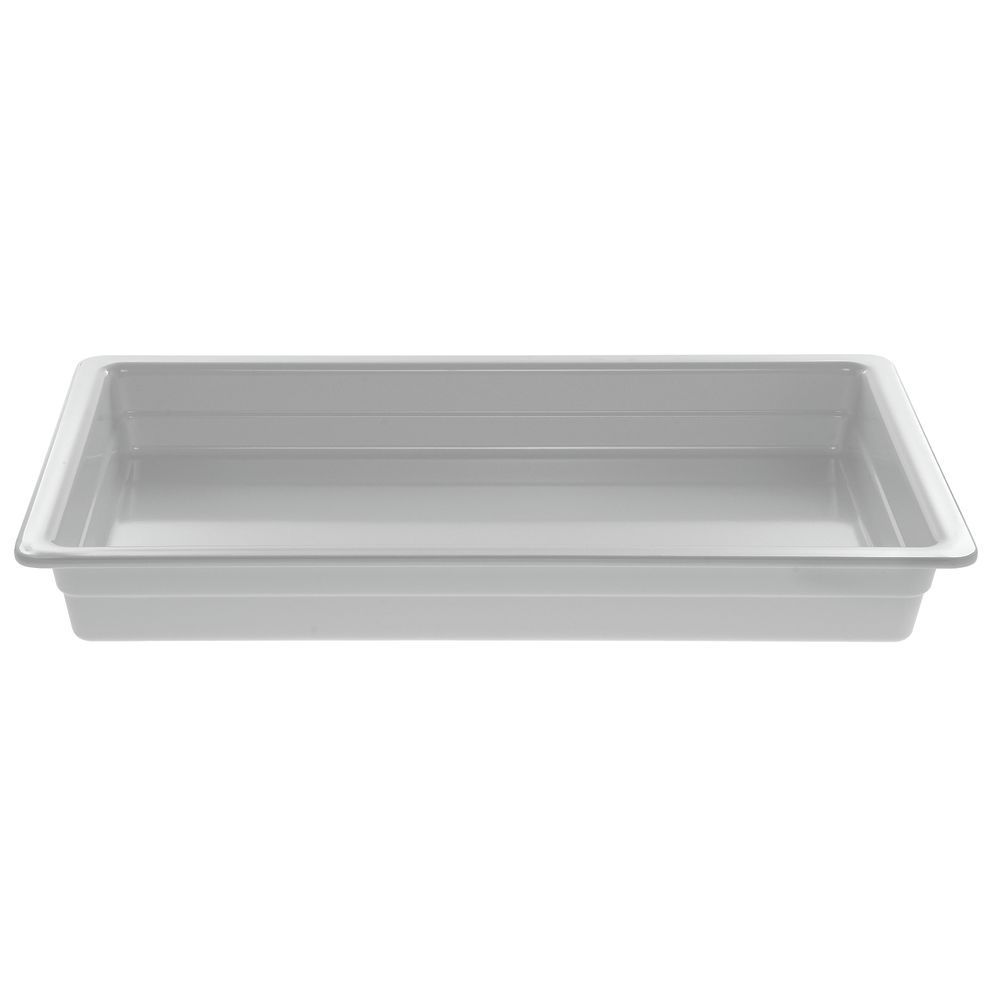 "Cold Food Pan in White Melamine Full Size 20 3/4""L  x  12 3/4""W x  2 1/2""H