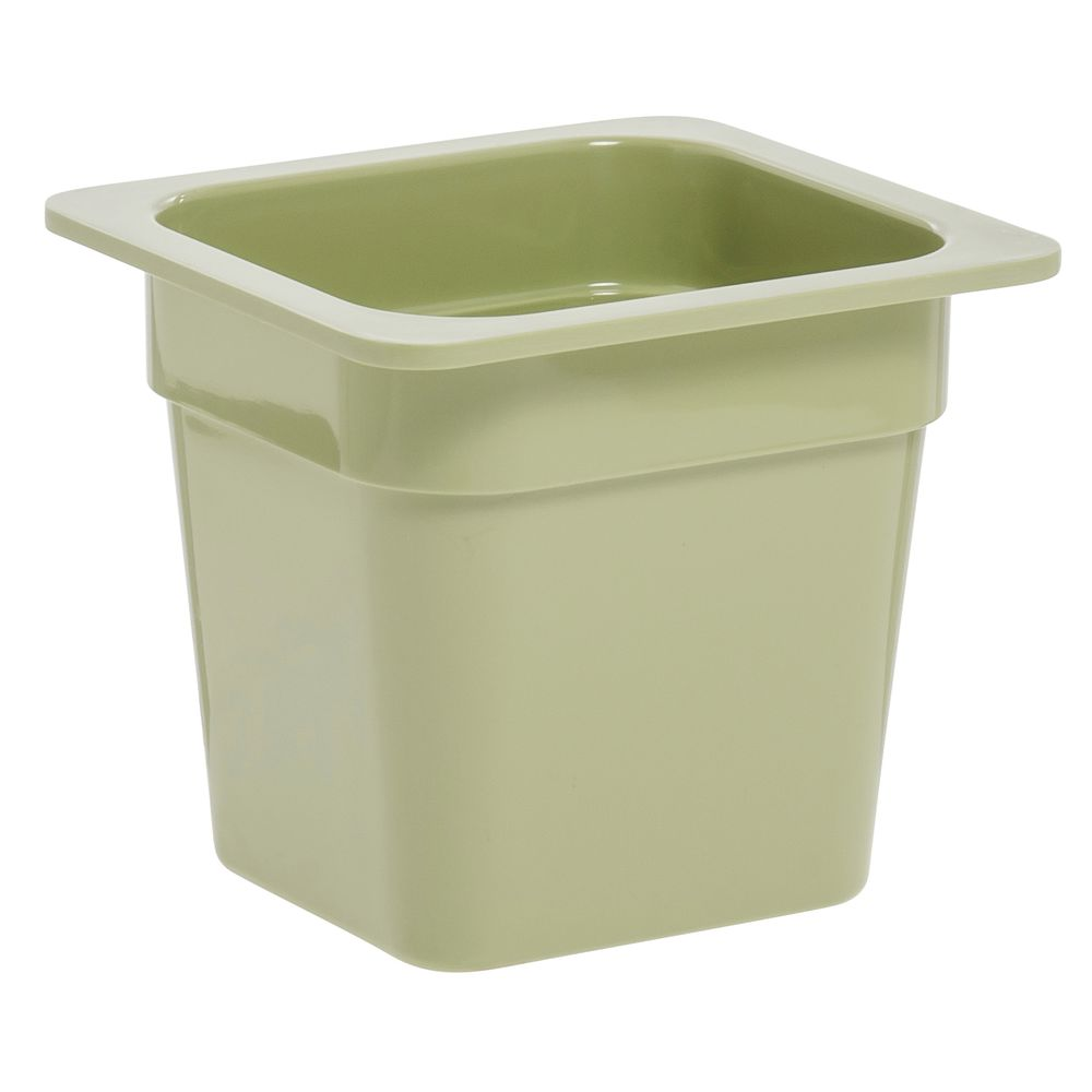 "Expressly Hubert® Sixth Size Melamine Pan 6""D Willow Green"