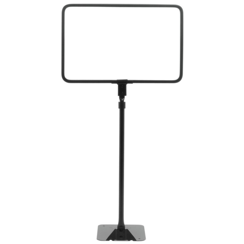 horizontal matte black metal sign frame flat base adjustable stem 11l x 7h - Metal Sign Frames