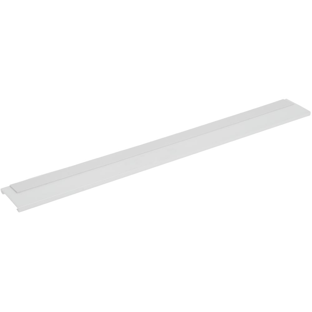 "SHELF MOLDING, EXTRUDED, WHITE, 48""L W/TAPE"