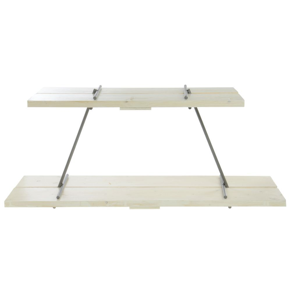 SHELVES, RECTANGULAR, (WHITE WASHED)SET OF