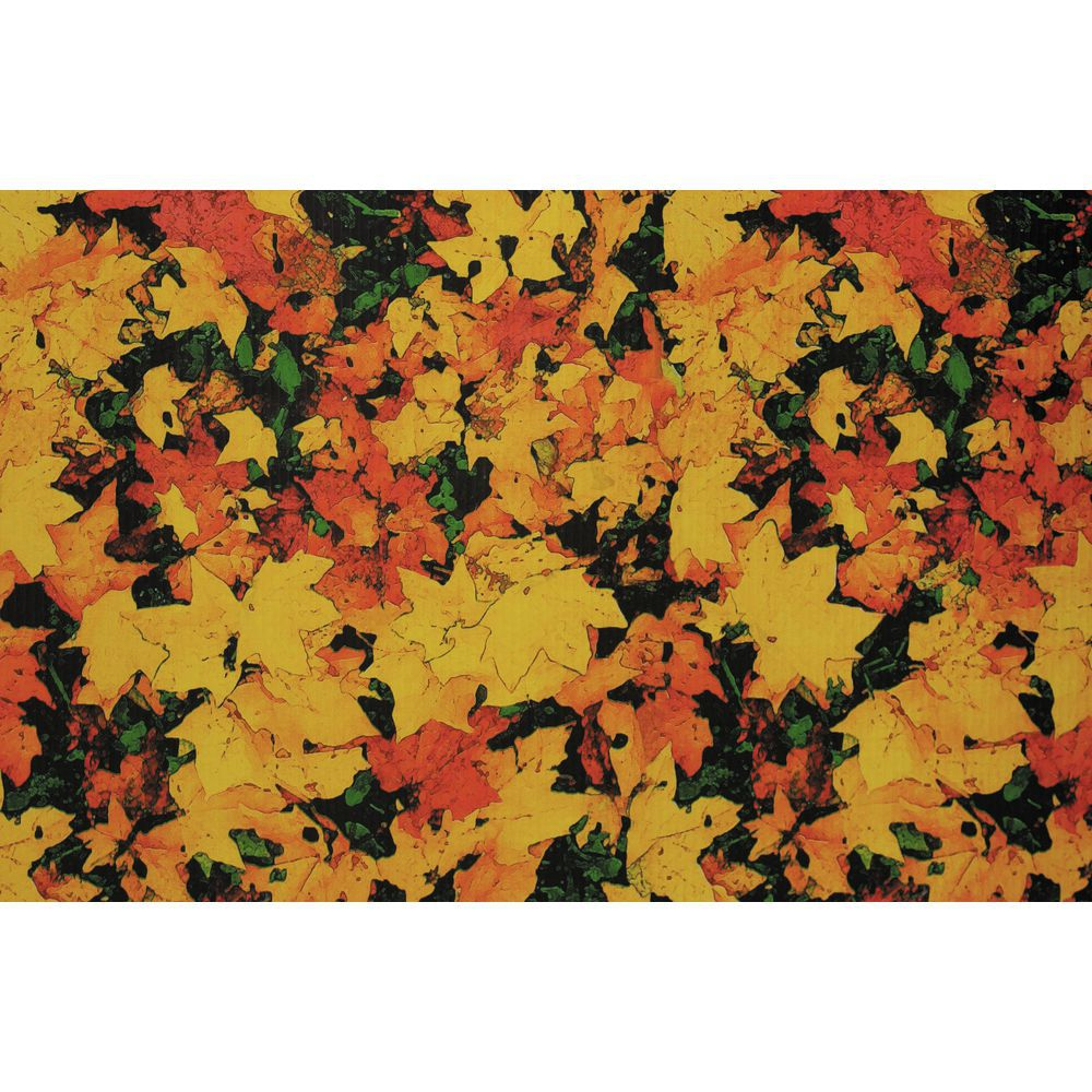 "Corobuff Awning Fall Leaves Orange/Yellow/Green 25'L x 24""W Corrugated Paper"