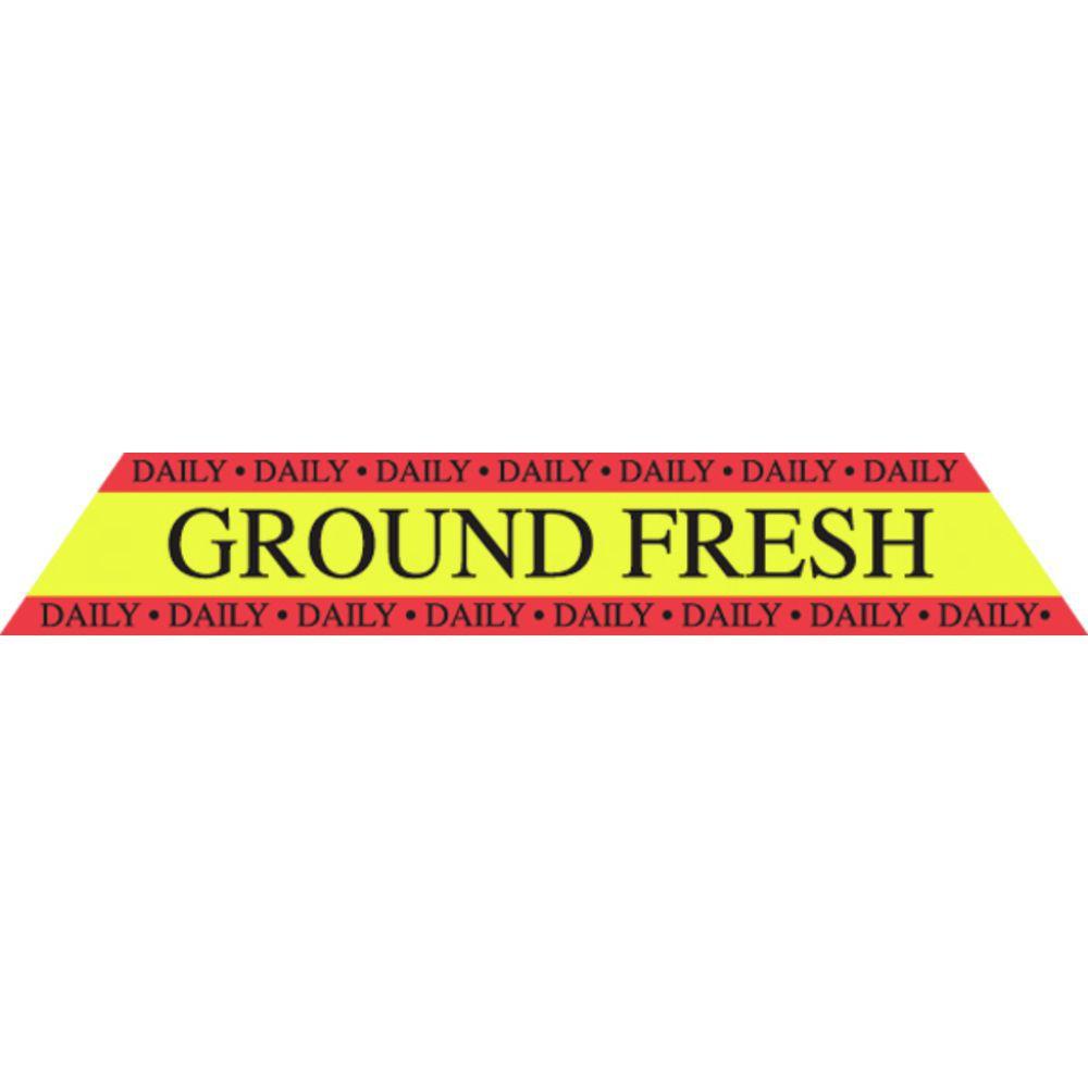 LABEL, GROUND FRESH, .75X4.5L, 500/RL