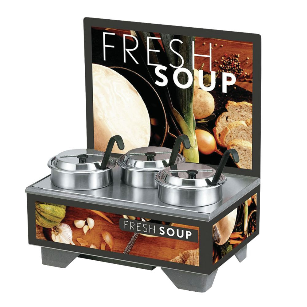 Vollrath® Soup Merchandiser 4 Qt Accessory Pack Tuscan Graphics