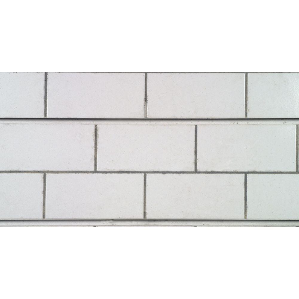 Subway Tile Slatwall Panels, 4\' x 2\'