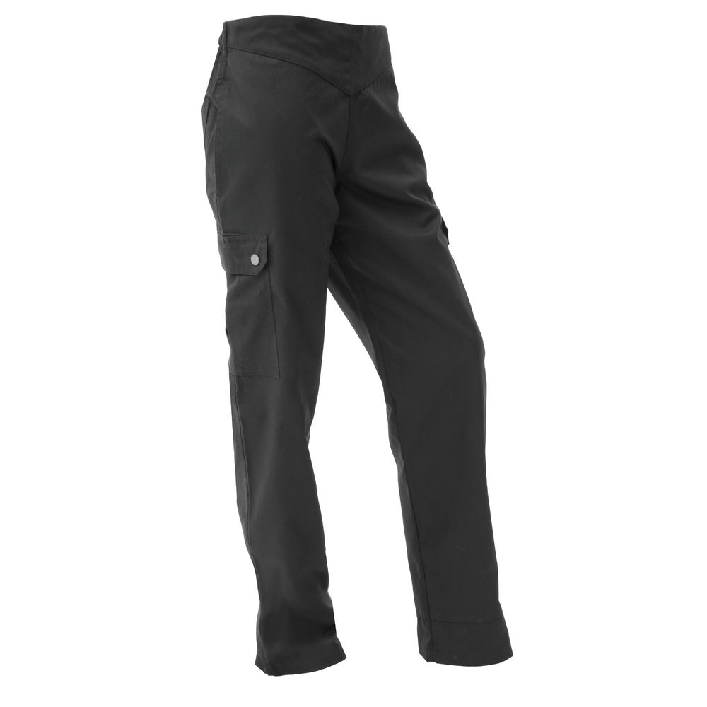 PANTS, CHEF, CARGO, LADIES, LARGE, BLACK