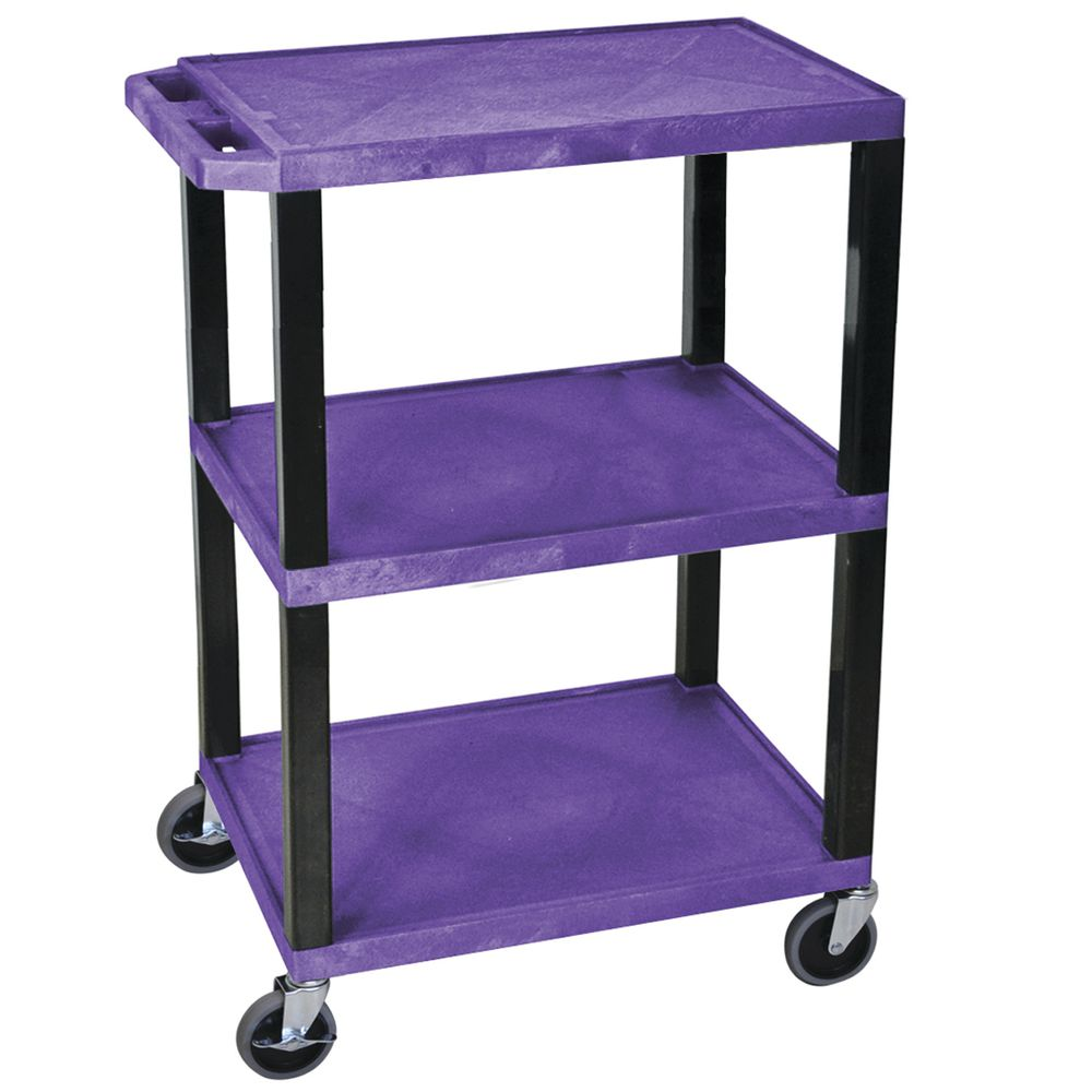 "CART, UTILITY, PURPLE, COLOR-CODED, 34""H"
