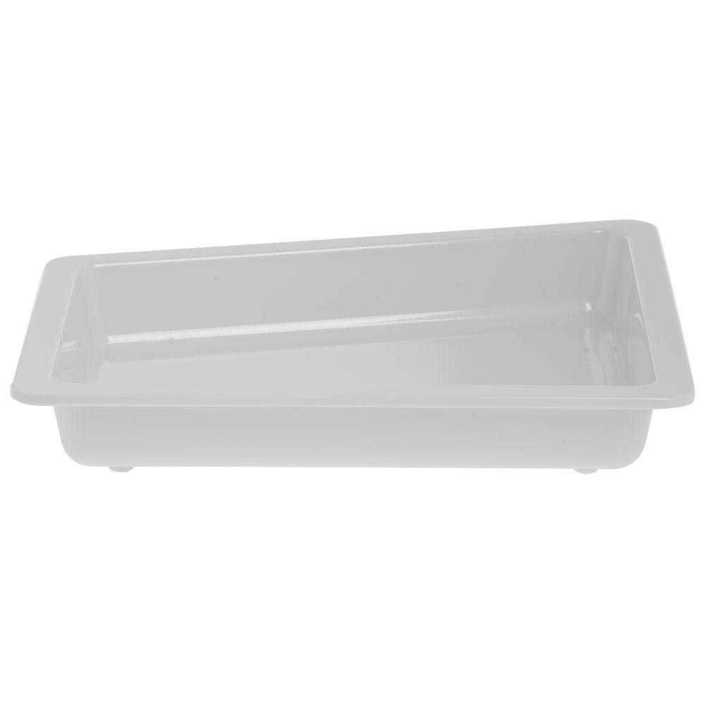 PAN, HALF REGULAR, WHITE, EDGEWARE, MELAMINE