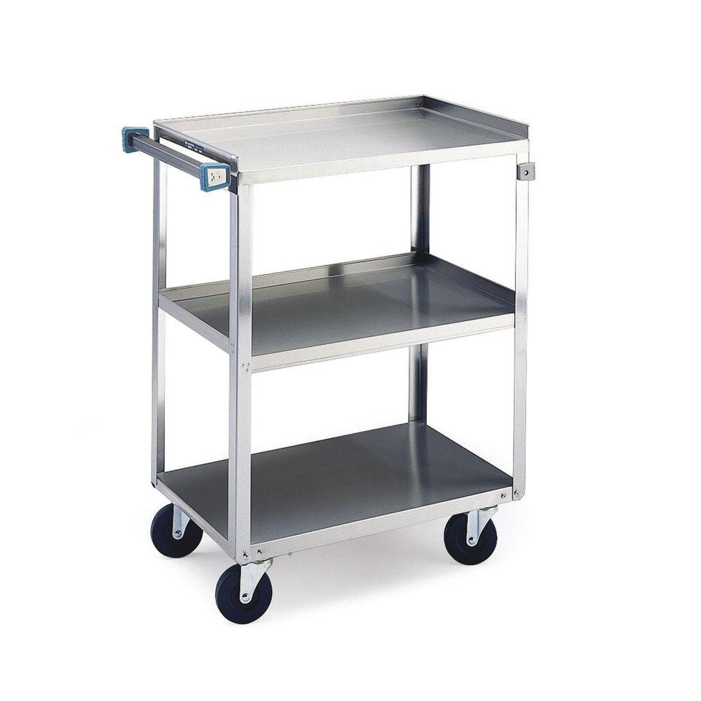 Lakeside Stainless Steel 3-Shelf Medium Duty Utility Cart - 27 5/8L ...