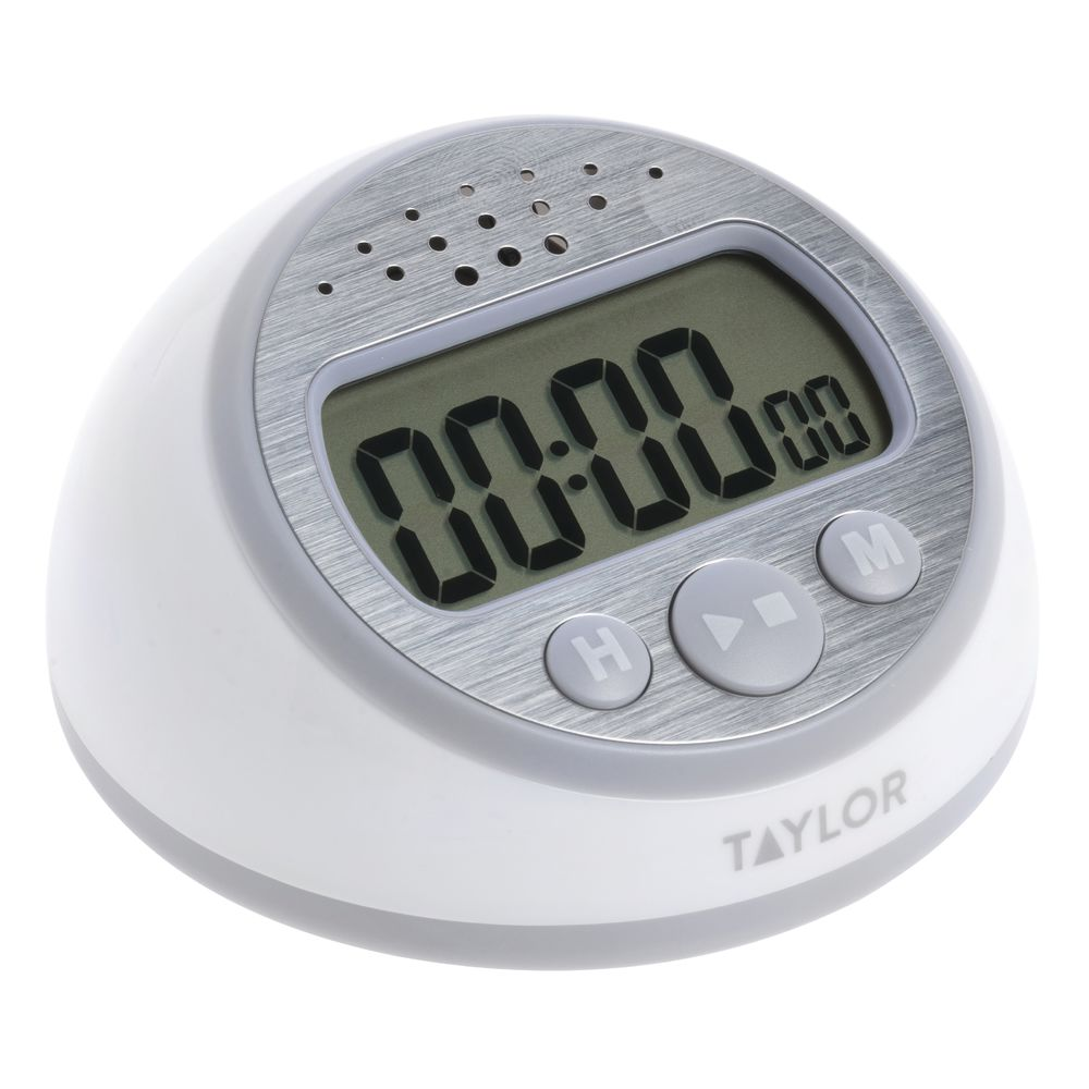 taylor white plastic continuous ring digital timer clock 3 1 2