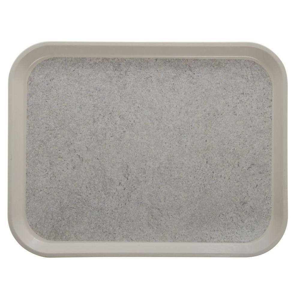 "Cambro Non-Skid Versa Camtray Rectangle Tray in Ivory Fiberglass  20""L x 15""W"