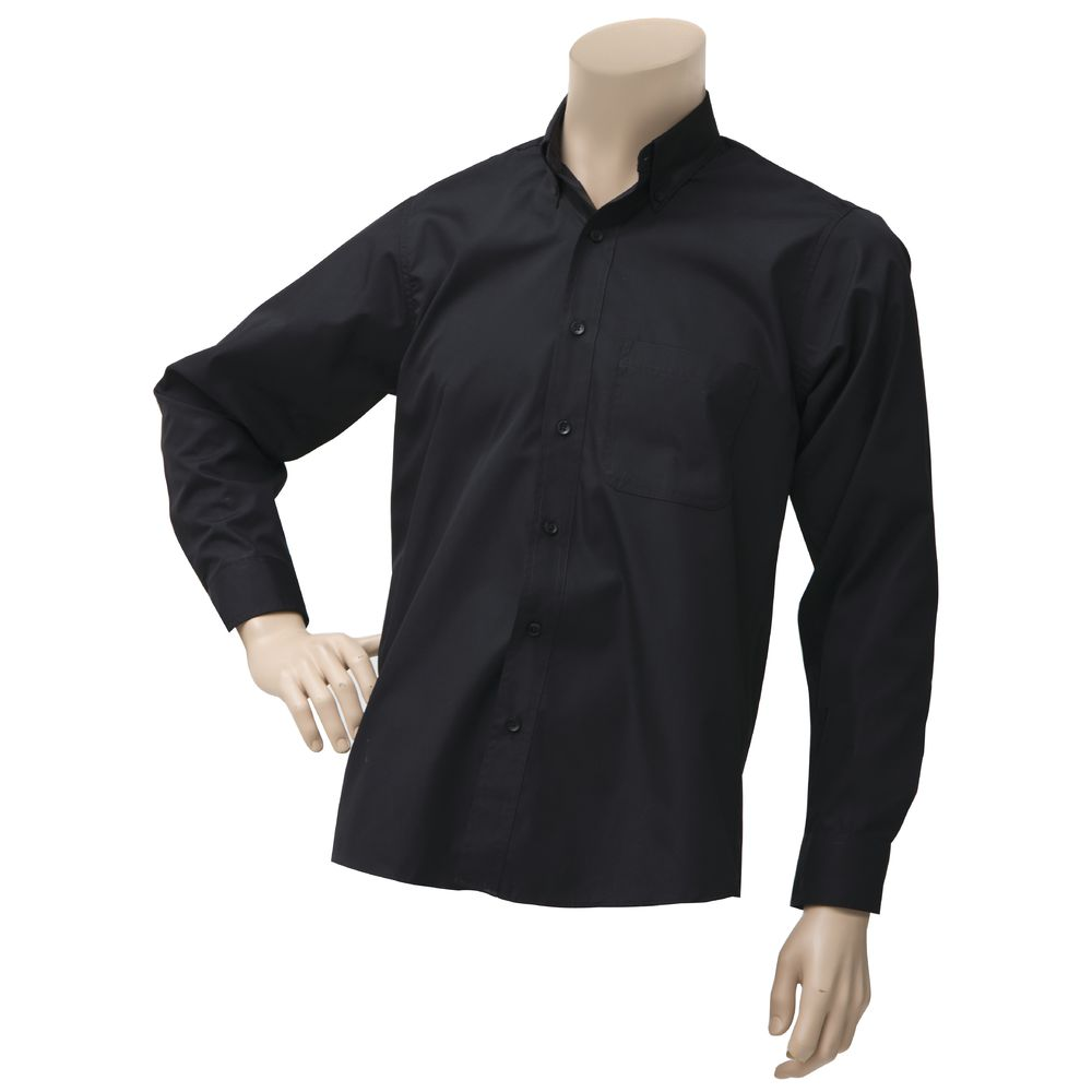 SHIRT, DRESS, MEN'S, LNG SLVE, BLACK, SM