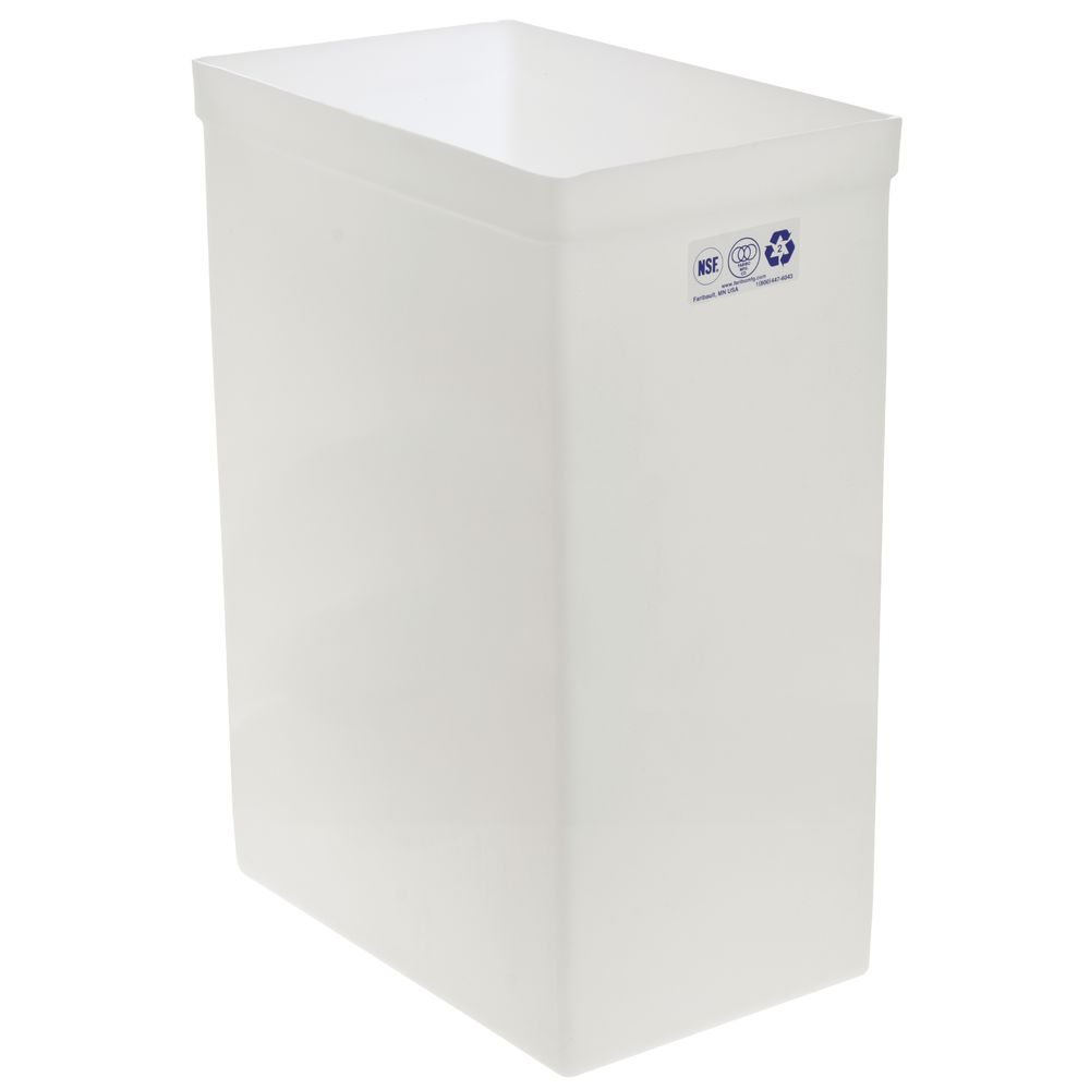 "Ingredient Bin Replacement 12 gal White14 3/8""L x 9 1/4""W x 23""H"