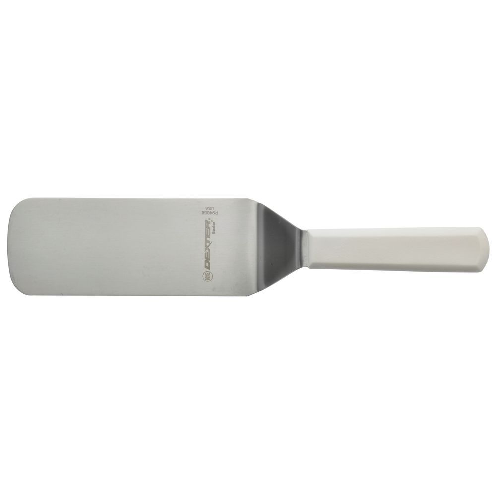 "8"" X 3"" TURNER, WHITE PLASTIC HANDLE"