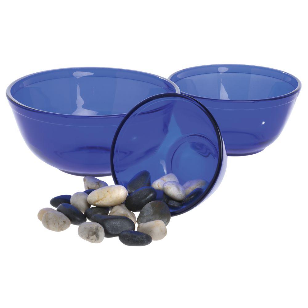 mosser glass cobalt blue vintage mixing bowl set. Black Bedroom Furniture Sets. Home Design Ideas
