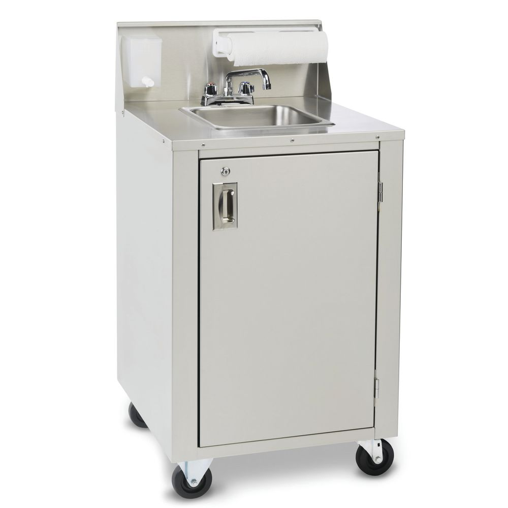 Crown Verity CV-PHS-4 Stainless Steel Portable Hand Sink With Water Heater