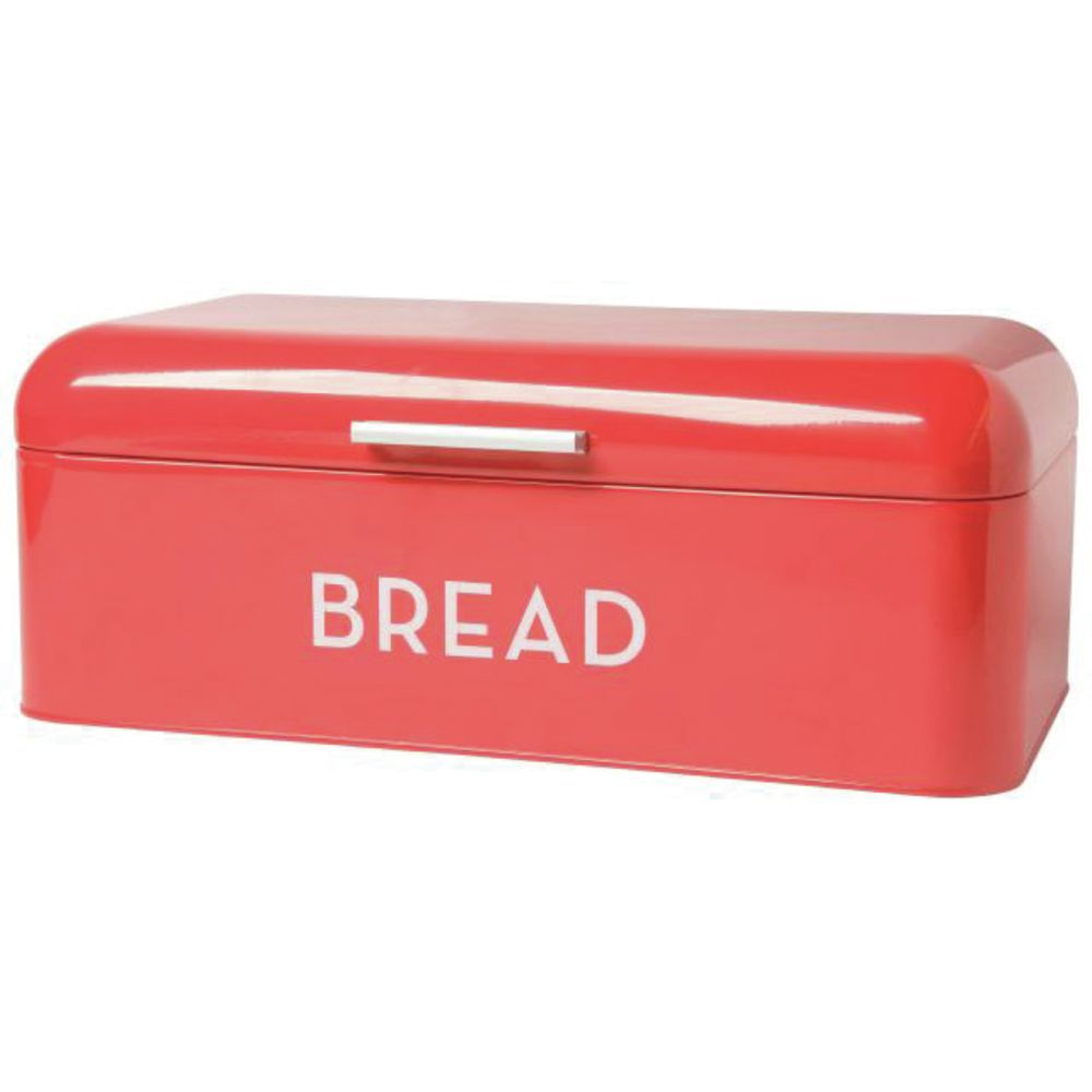 BIN, BREAD, PWDR-CTD STEEL, RED