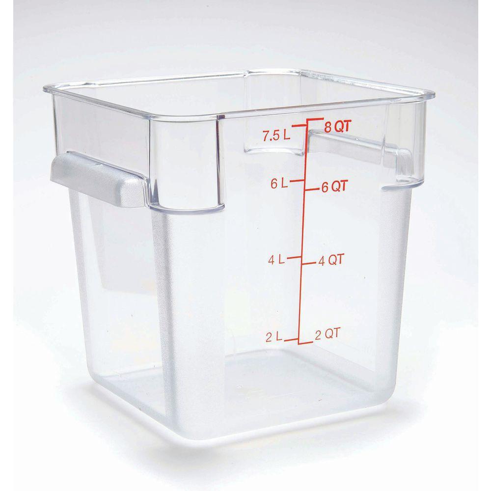 FOOD BOX CLEAR 8 QT.SQUARE- HUBERT   sc 1 st  Hubert.com & HUBERT 8 qt Clear Plastic Storage Container - 8 3/4L x 8 3/4W x 9D