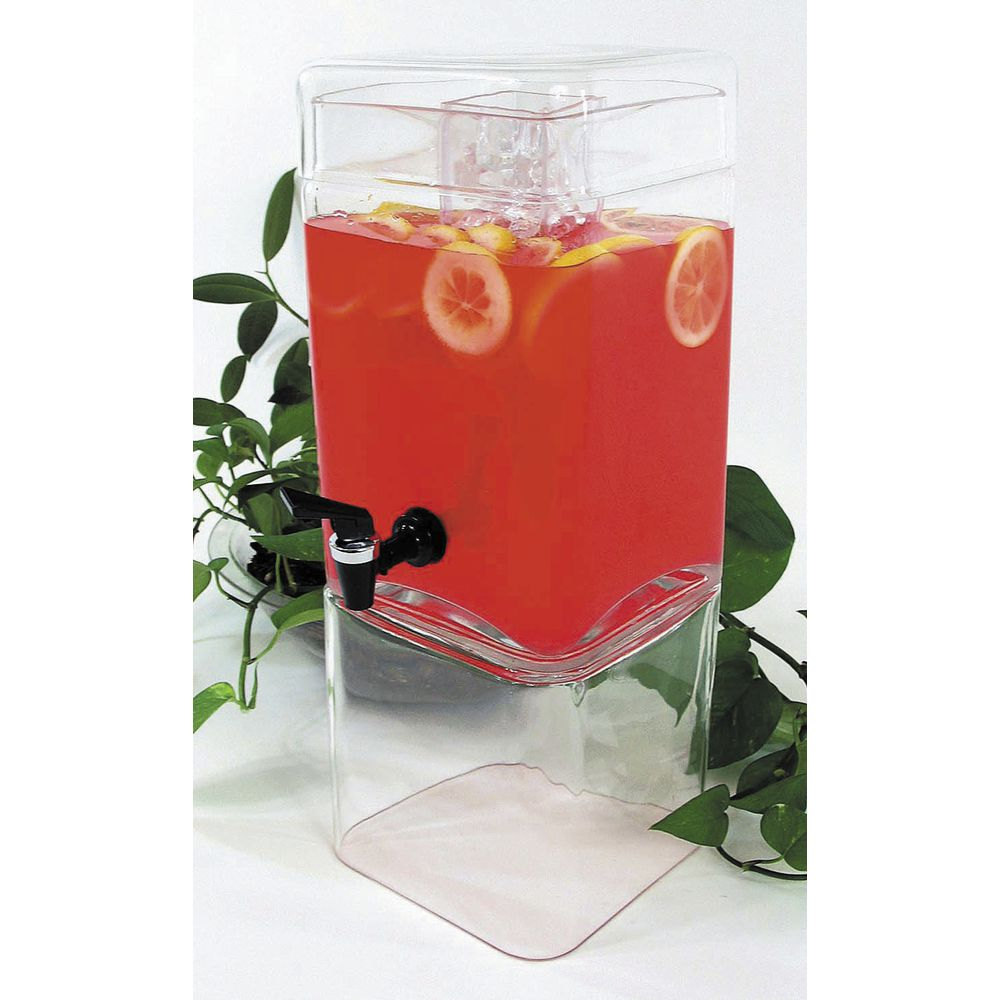 DISPENSER, SQUARE, 1.5 GAL, GLASS