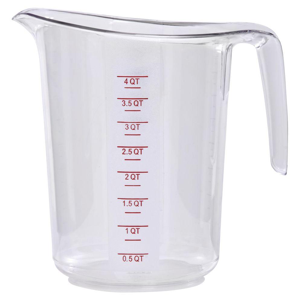 MEASURING CUP, 4 QT/16 CUPS, POLYCARB, HB