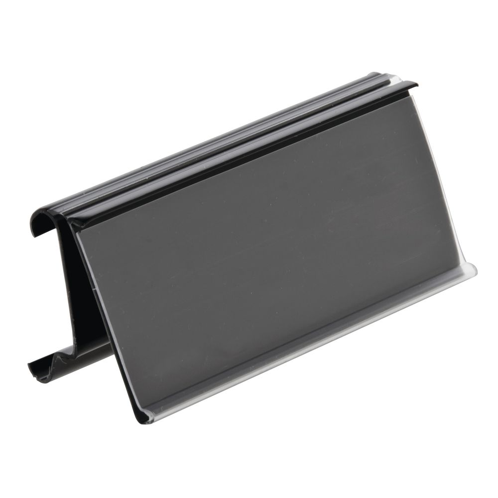 "SHELF EDGE, METRO, BLACK, 1.25""HX3""L, 100/BG"