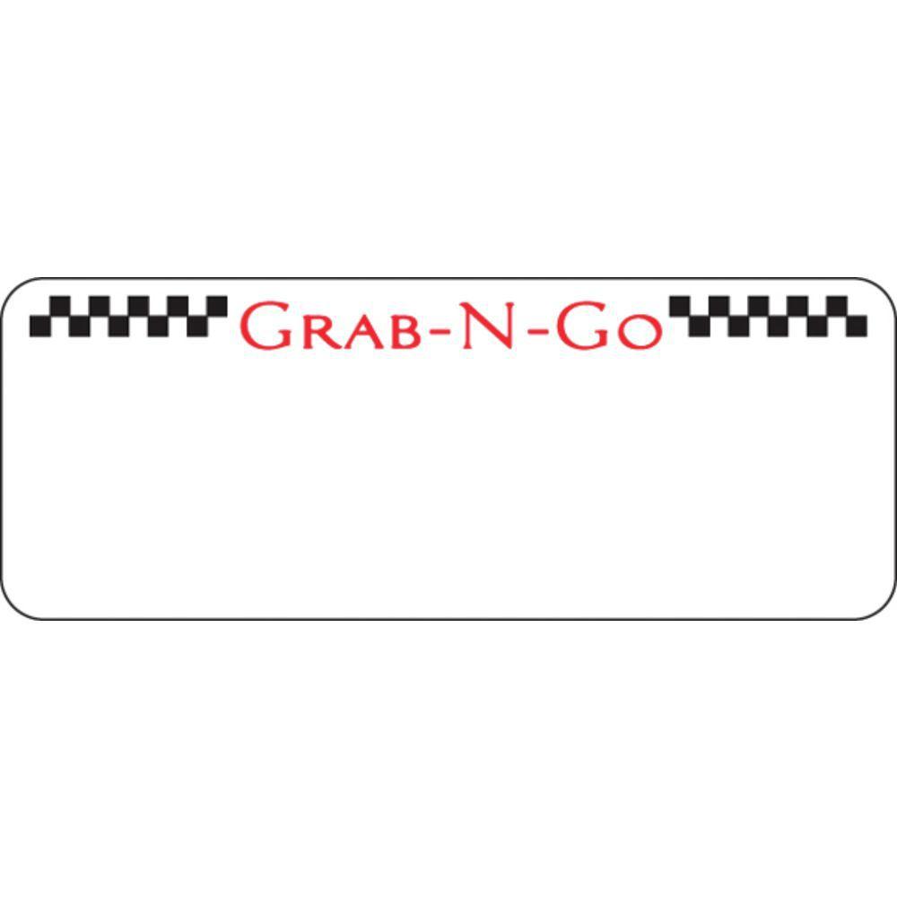 """30 Up Labels Grab-N-Go 2 1/2""""L x 1""""H"""