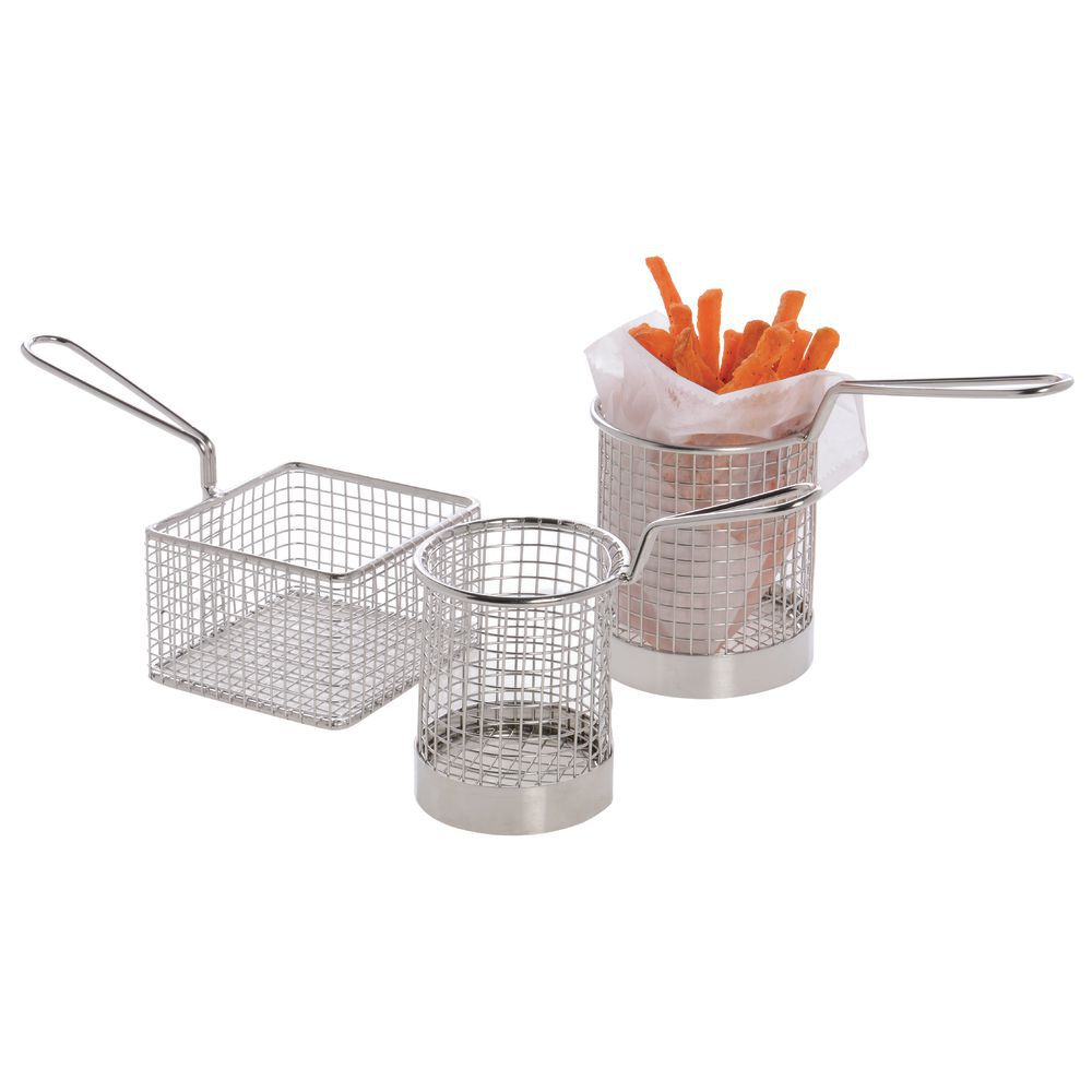 "BASKET, FRY, SMALL ROUND, 3-1/2""H"